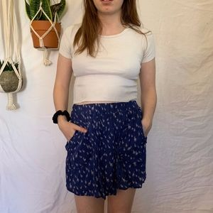 ZARA blue patterned skirt